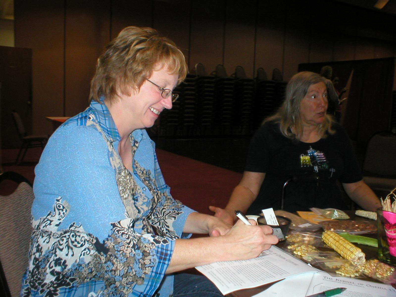 Sandy Stein saving seed