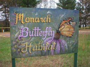 sign at Monarch Butterfly Habitat