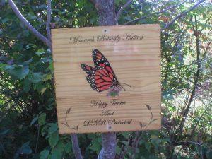 Monarch Butterfly Habitat Sign