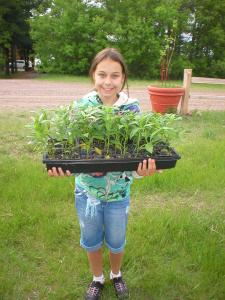 Lyndy with Yellow River Nursery Milkweed