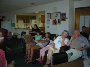 Attendees at environmental film showing