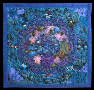 "Carol Bridges ""Emergence"" quilt honors Gulf of Mexico"