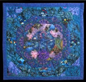 "Carol Bridges ""Emergence"" quilt honors Gulf of Mexico"