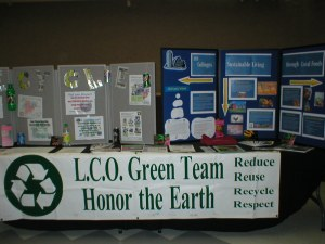 LCO Green Team Sign Honor the Earth