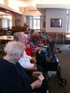 Residents at TLC enjoy butterfly film