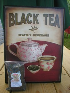 Old tea sign