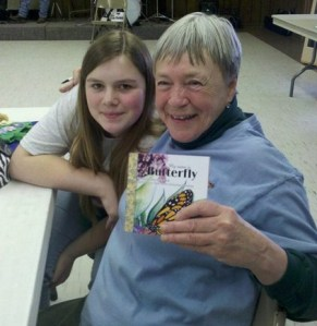 Cassie Thompson and Mary Ellen Ryall on Earth Day 2011