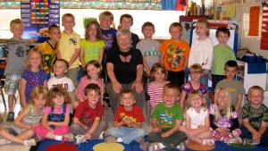 Mrs. Janie LaFave's kindergarten class, Shell Lake Grammar School, WI