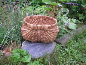 Potato basket hand woven by JoAnn Flanagan, Oregon, OH